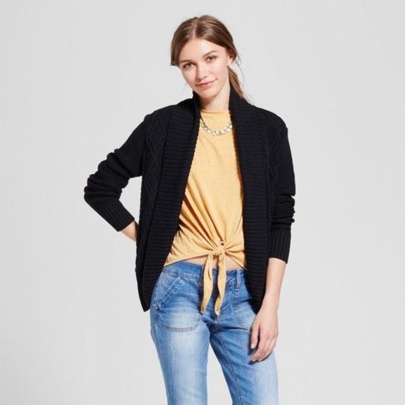 b7dc6fa4da NEW Black Cable Knit Cocoon Cardigan Sweater  D3 .  M 5a932d738af1c54f0047a955